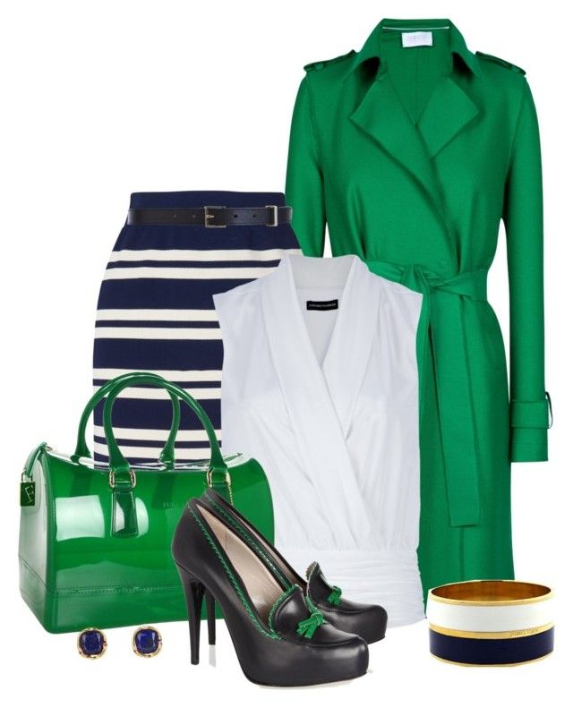 Blue & Green by maggie-jackson-carvalho on Polyvore featuring polyvore, mode, style, Emporio Armani, Harris Wharf London, Jaeger, Jason Wu, Furla, Elizabeth and James, Maison Boinet, Vince Camuto, fashion and clothing