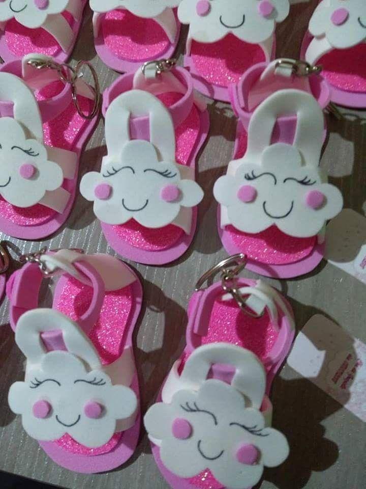 Souvenirs Felpa Goma Eva Ideas Baby Shower Girl Shower Y Baby