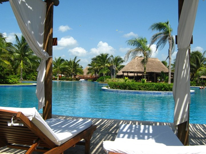 View From The Pool At The Valentin Imperial Maya, Where We Are Going In  2014 Whoohooooo!