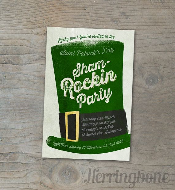 11 best images about Murphy St Patricks Party – St Patricks Day Party Invitations