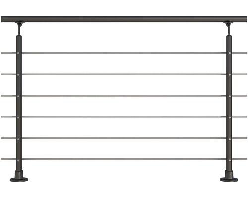 Gelander Komplettset Pertura Aluminium Anthrazit Mit Sechs Edelstahlstaben Fur Bodenmontage B 1 50 M Bei Hornbach Kaufen In 2020 Aluminium Stahlgelander Stahl