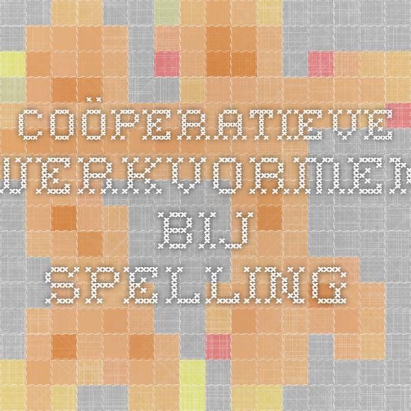 Coöperatieve werkvormen bij spelling