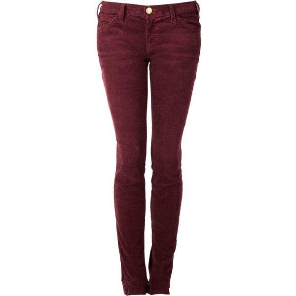 CURRENT/ELLIOTT Wine Red Burgundy Skinny Cord Jeans ($140) ❤ liked on  Polyvore - A 25 Legjobb ötlet A Pinteresten A Következővel Kapcsolatban