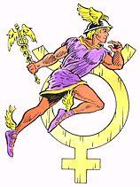Mercury, messenger of the Roman gods.