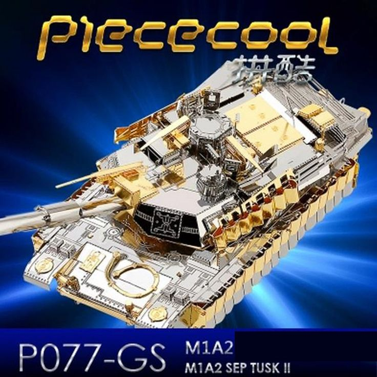 21.69$  Buy now - http://ali64c.shopchina.info/1/go.php?t=32782302848 - ICONX 2017 Limited Edition Piececool 3D Metal Puzzle Jigsaw Toys M1A2 SEP Tusk Military Cars Puzzle 3D Tank Model Toy For Adults  #buyonline
