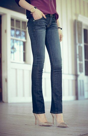 Not a boot cut, not straight, not skinny - BABY BOOT!  Me like!!