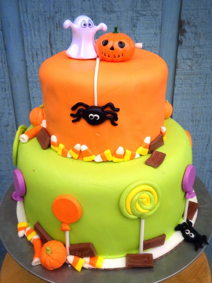 217 best piece of cake to make images on pinterest biscuits cakes and birthday cakes - Halloween Decorated Cakes