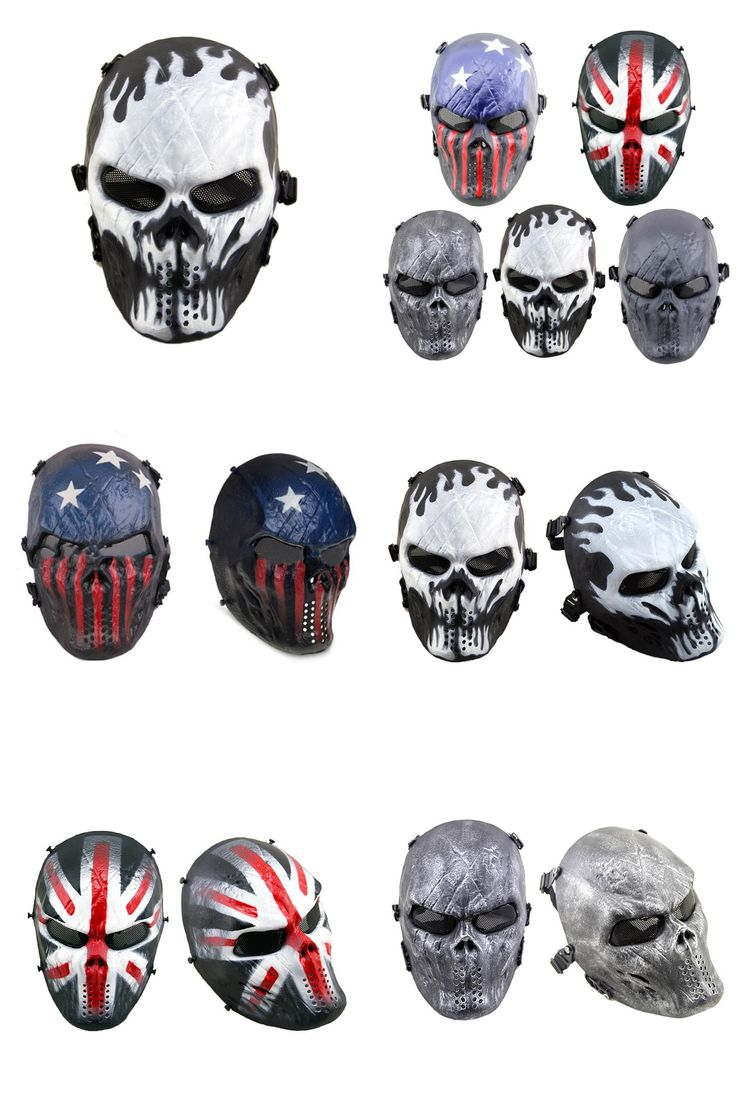 [Visit to Buy] Average Cosplay Black Full Face Adult Skull Mask Airsoft Paintball Tactical Costume Scary Mask For Halloween Christmas Party #Advertisement