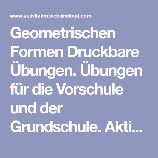 Ungewöhnlich Kindergarten Formen Arbeitsblatt Bedruckbaren Seiten ...