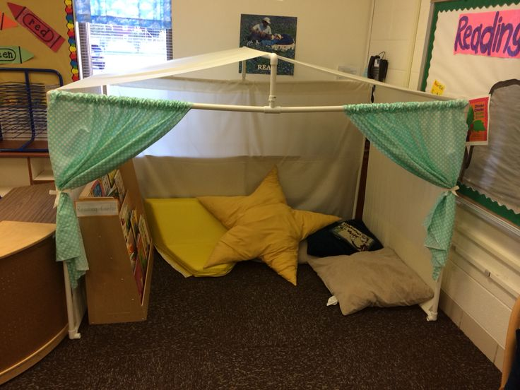 -Reading nook for my preschool room; doubles as a safe