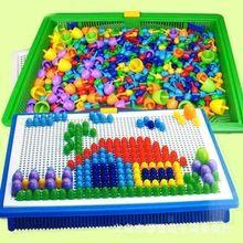 intelligente 3d puzzel spelletjes kinderen plastic kralen diy nagel flashboard baby speelgoed educatief speelgoed(China (Mainland))