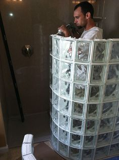 Glass Block Shower Kits Installation