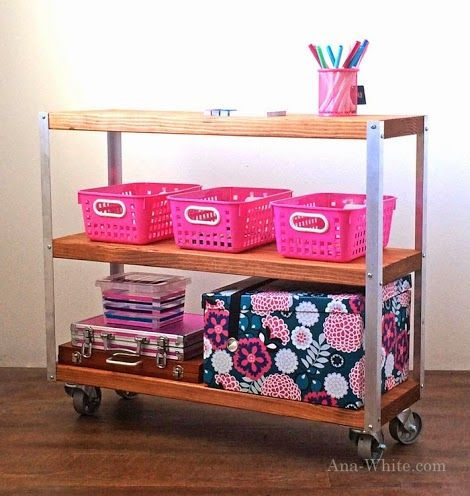 Simple Storage Cart Ana White | Free and Easy DIY Furniture Plans to Save You Money- kitchen cart