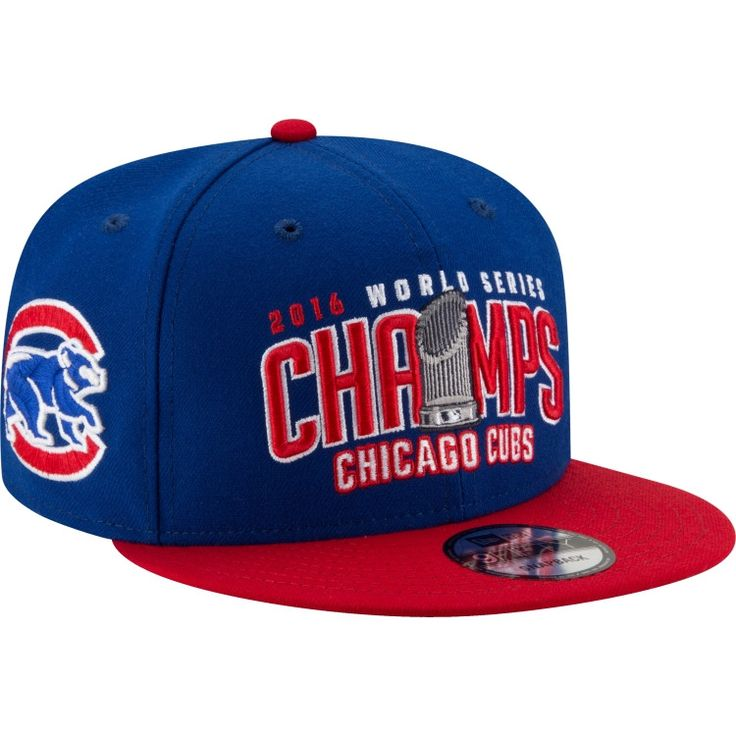 New Era Men's 2016 World Series Champions 9Fifty Chicago Cubs Royal/Red Adjustable Hat