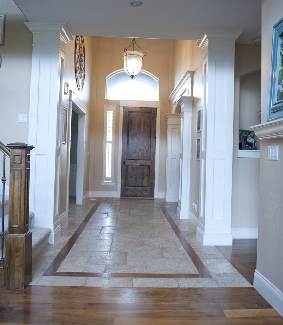 Foyer Tile Or Wood : Entryway moulding for the home pinterest tile