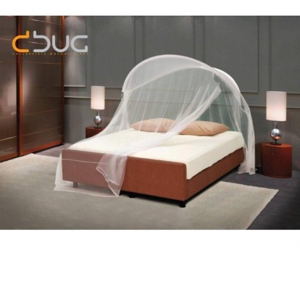 Te koop bij nonplusultra ideaal tegen de muggen. Te gebruiken zonder dat je gaten hoeft te boren in het plafond. Door het plaatsen van steunen onder de poten van het bed. Opvouwbaar en makkelijk mee te nemen op vakantie.
