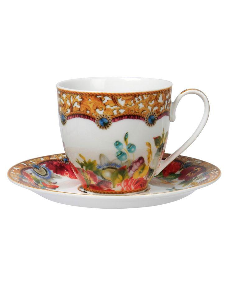 Tea cup & saucer flower 200 ML