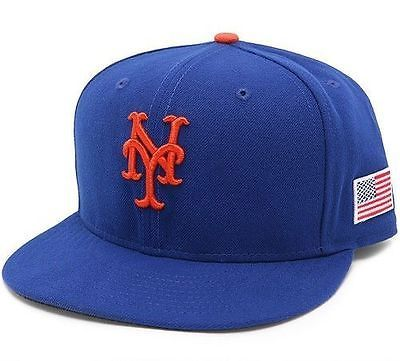 Hats and Headwear 159057: New York Mets Authentic 59Fifty Us Flag World Trade Center Hat Cap BUY IT NOW ONLY: $32.99