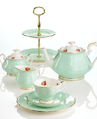 Royal Albert Dinnerware, Old Country Roses Polka Rose Collection - Fine China - Dining & Entertaining - Macy's
