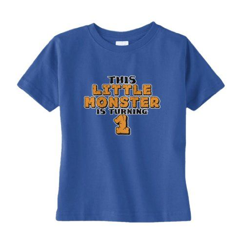 Threadrock 'This Little Monster is Turning 1' Infant T-Shirt 18M Royal Blue