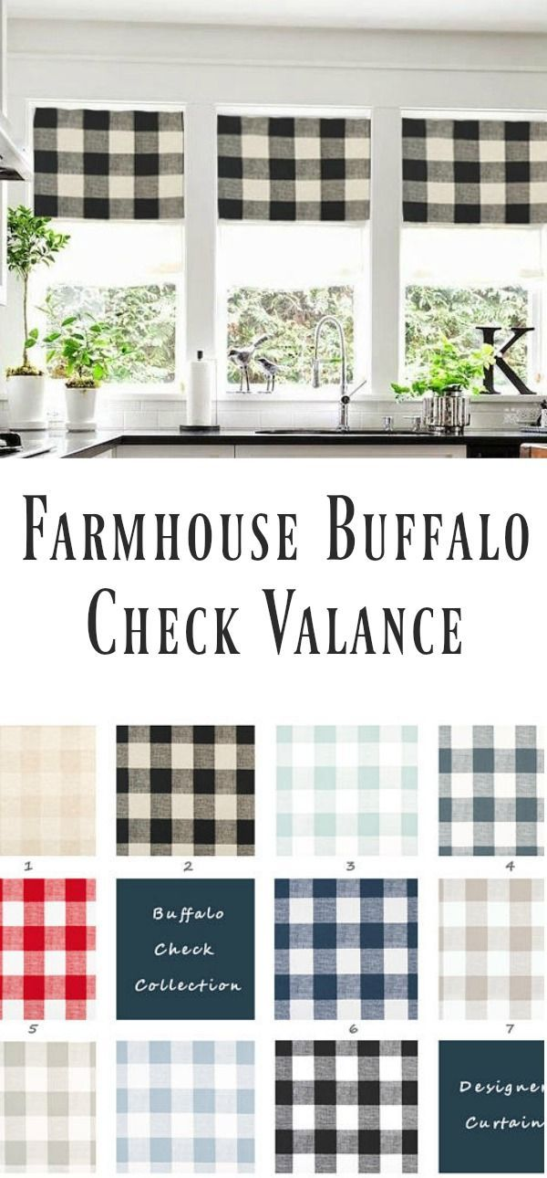 Farmhouse Buffalo Check Valance Buffalo Plaid Valance