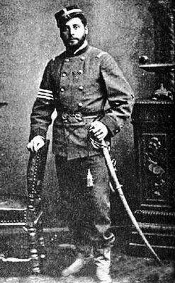 Enrique Pérez, Capitán del regimiento Valparaiso, tercera División. año 1881.