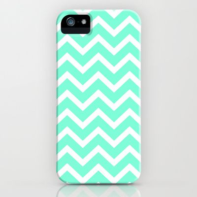 Tiffany Mint Chevron Pattern iPhone & iPod Case by RexLambo - $35.00