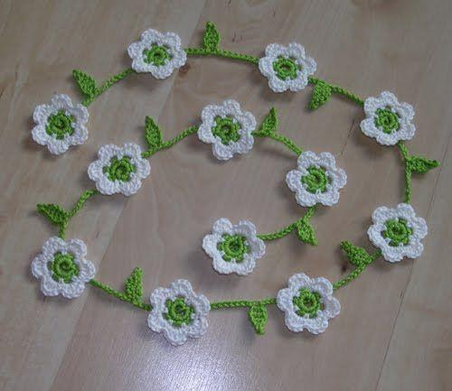 daisy string .. #crochet flowers