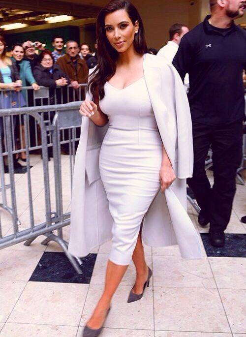 Kim kardashian white dress kentucky derby