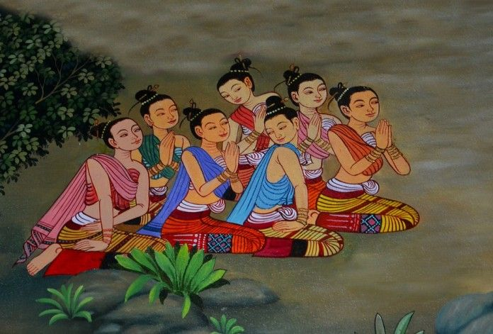 Buddha and the Female Monk