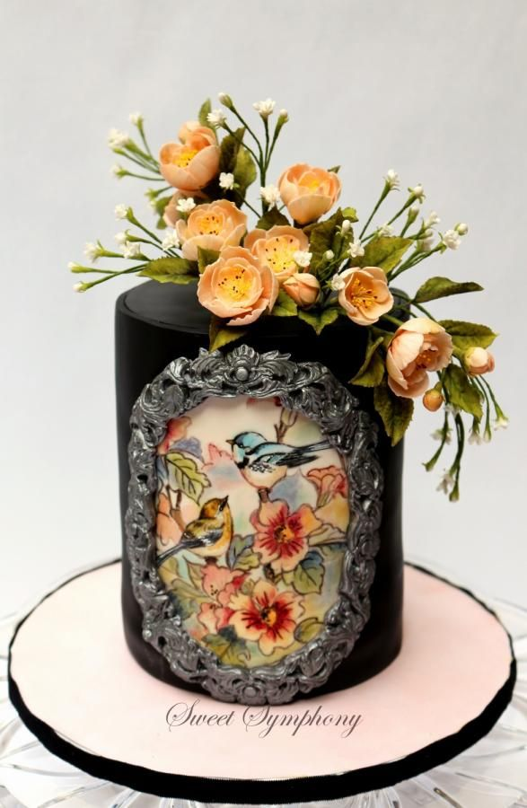 Vintage themed cake ! by SweetSymphony