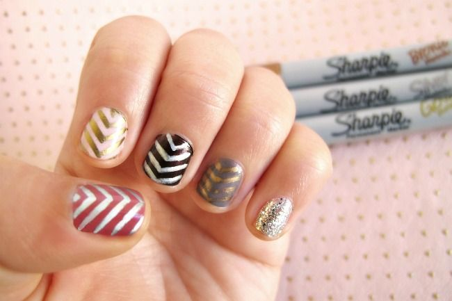 use a metallic Sharpie on your nails