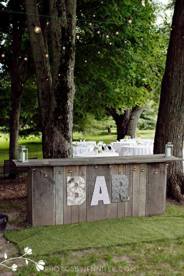 bar de jardin pour un mariage