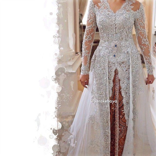 Fitting ... #weddingdress #bride #lace #beads #swarovski #kebaya #batik