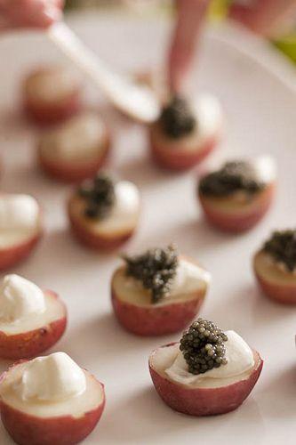 piccole patate rosse con creme fraiche