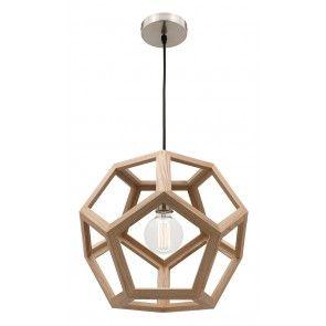 Mercator - Peeta Natural Timber 40cm Pendant