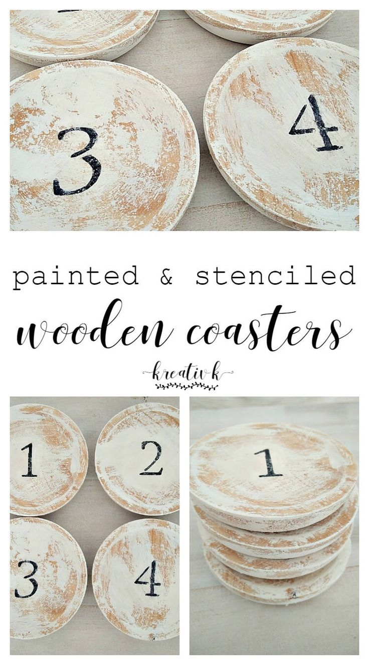 How stunning are these painted stenciled wooden coasters! Gorgeous and easy-to-make! My favorite type of DIY.