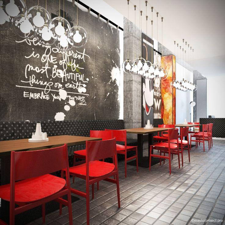 Pop Art Style In Interior Design. Restaurant Interior design project by Master project. Pop Art Style In Interior Design. Restaurant Interior design project by Master project.  Эскиз-концепция ресторана.  Ресторан в стиле поп-арт всегда популярен среди активных и жизнерадостных.  Стиль поп-арт играет на контрастах, экспрессии, он -популярное или естественное искусство.
