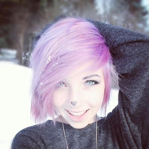 Scene hair so cute. i wanna cut my hair short, and do this :) just not the color