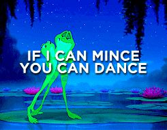 If I can mince, you can dance