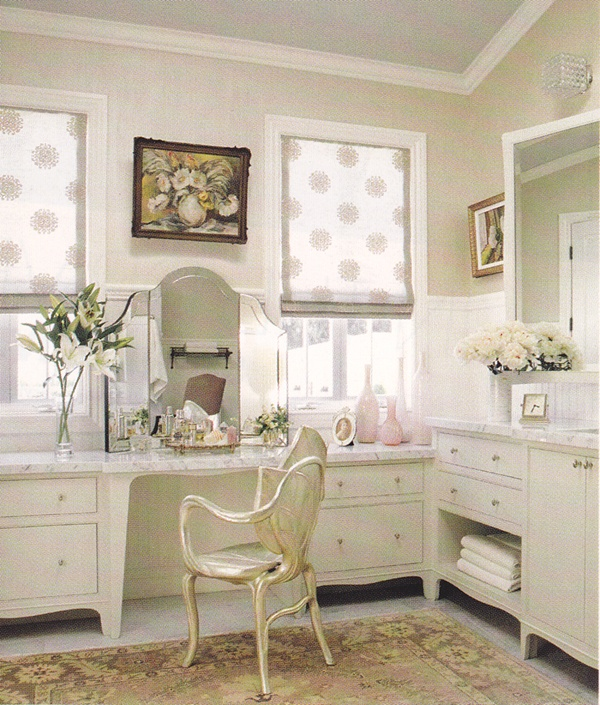 Makeup Dresser As Part Of The Open Closet And Bath Room On