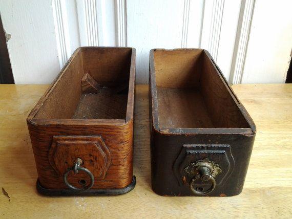 Treadle sewing machine drawers