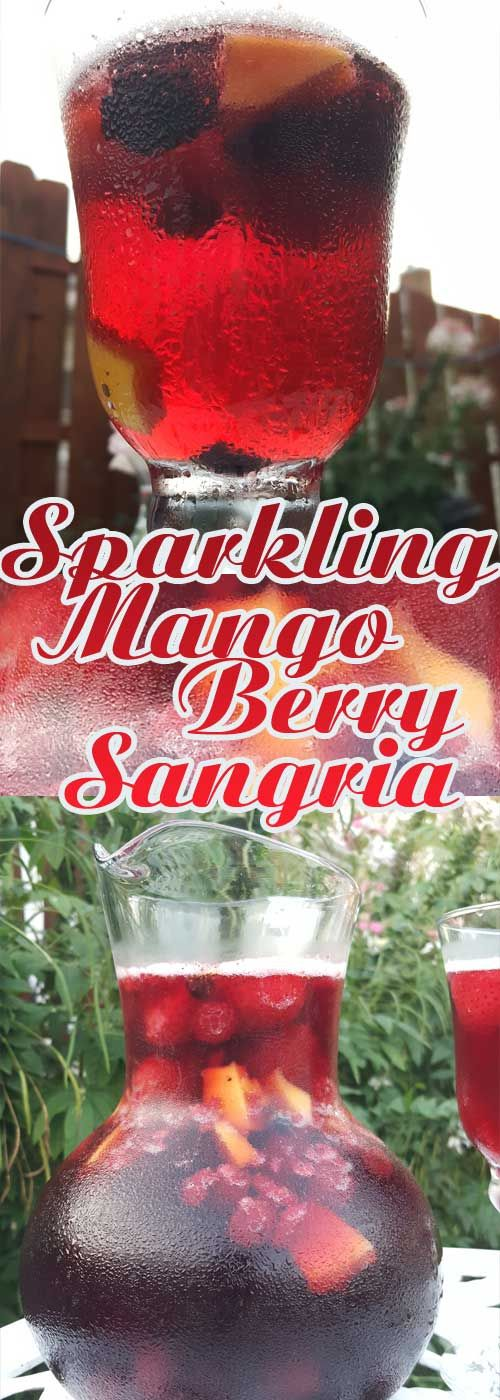 This recipe for Sparkling Mango Berry Sangria is a perfect and super-simple way…