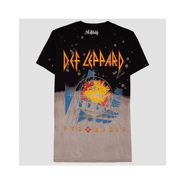 Men's Def Leppard Bleach Wash T-Shirt ($15) ❤ liked on Polyvore featuring men's fashion, men's clothing, men's shirts, men's t-shirts, multicolored, mens shirts, mens print shirts, mens ripped shirts, mens destroyed t shirt and mens t shirts