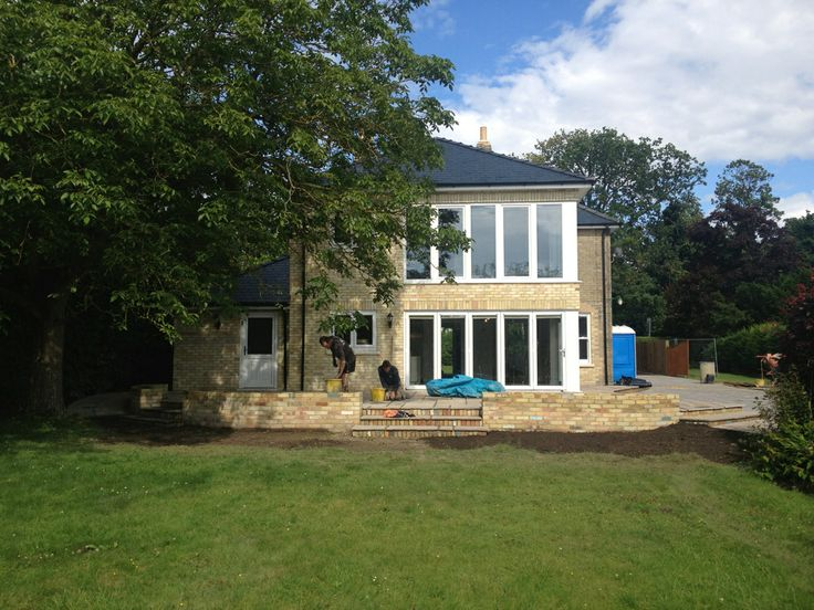 Two storey rear extension with sliding folding doors