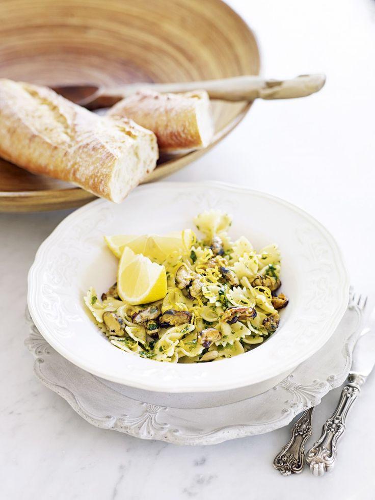 Pasta med musslor och gremolata
