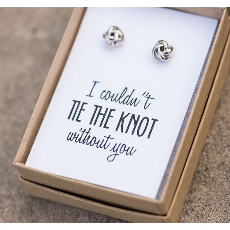 Knot Bridesmaid Earrings- cute inexpensive gifts that can be worn more than once.
