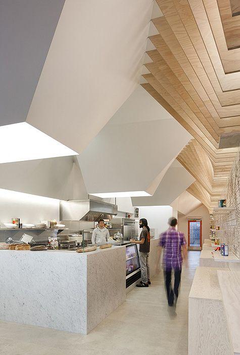 modern architecture, cafe, interior design