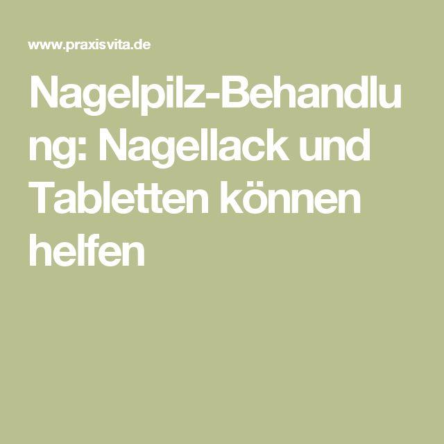 Nagelpilz-Behandlung: Nagellack und Tabletten können helfen