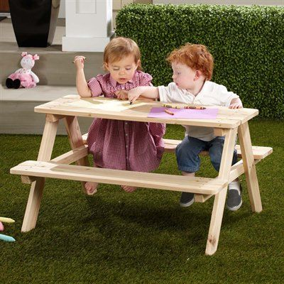 Merry Products TB0020000010 Kids' Wooden Picnic Table